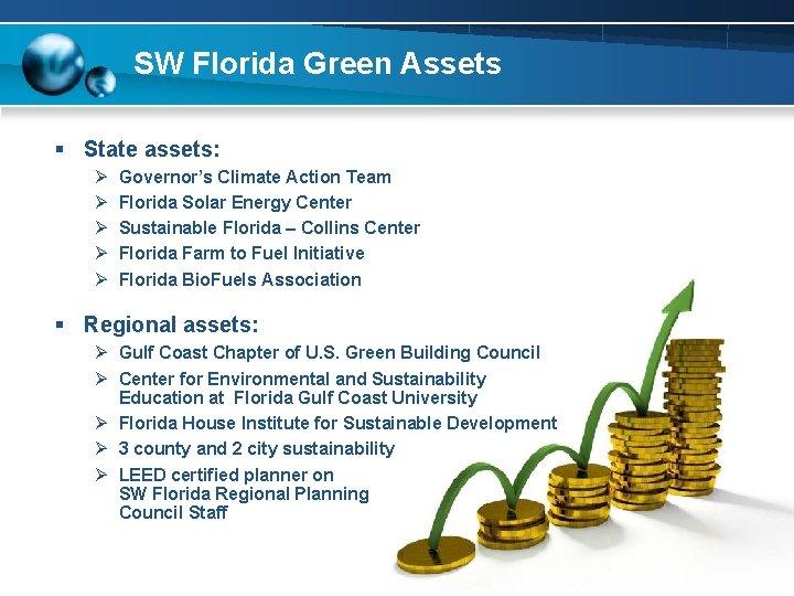 SW Florida Green Assets § State assets: Ø Ø Ø Governor's Climate Action Team
