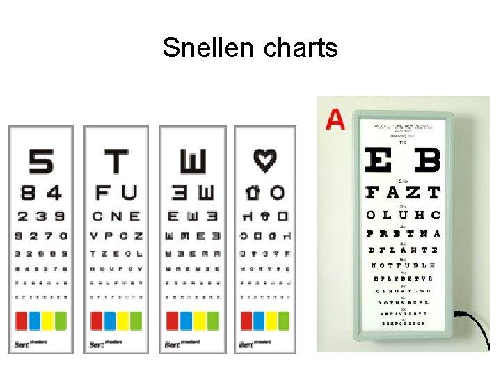 Snellen charts