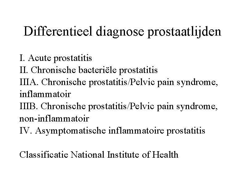 chronische prostatitis symptomen