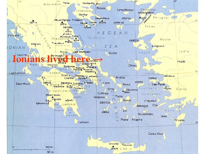 Ionians lived here →