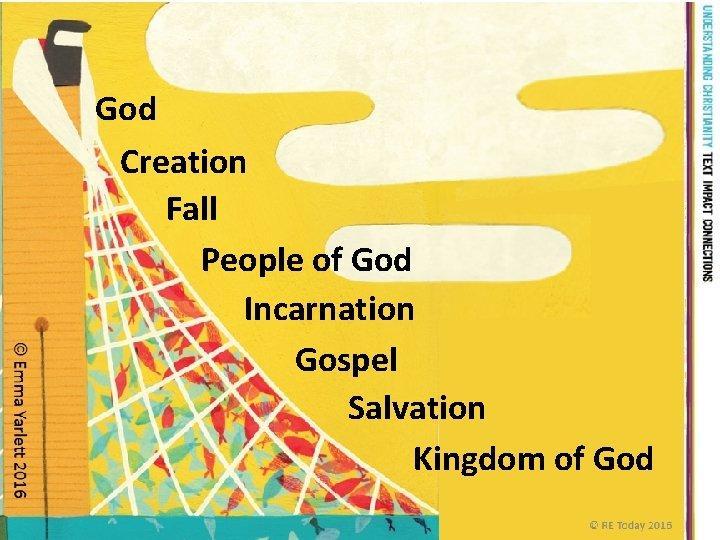 God Creation Fall People of God Incarnation Gospel Salvation Kingdom of God © RE