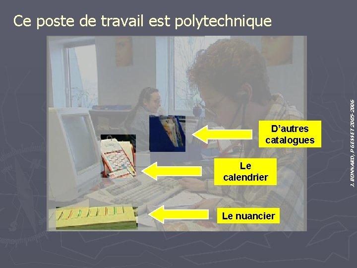 D'autres catalogues Le calendrier Le nuancier J. BONNARD, P GESSET 2005 -2006 Ce poste