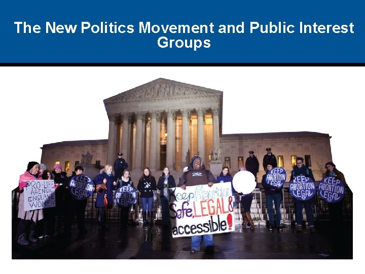 The New Politics Movement and Public Interest Groups