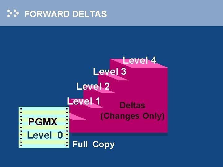 FORWARD DELTAS Level 4 Level 3 Level 2 Level 1 Deltas PGMX Level 0