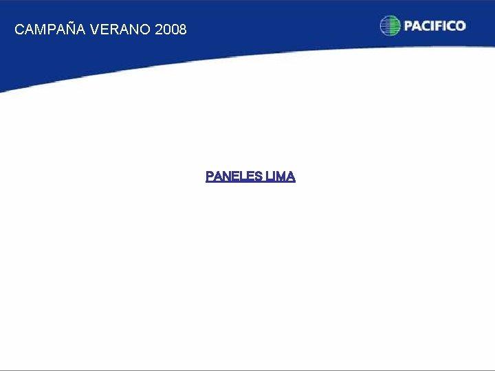CAMPAÑA VERANO 2008 PANELES LIMA