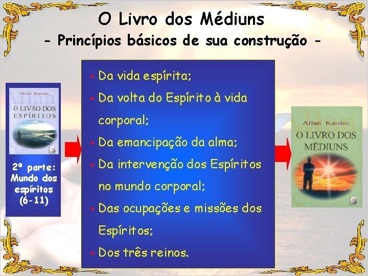 O Livro dos Médiuns - Princípios básicos de sua construção § Da vida espírita;