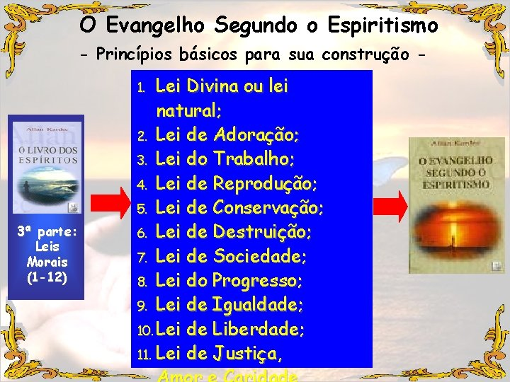 O Evangelho Segundo o Espiritismo - Princípios básicos para sua construção - Lei Divina