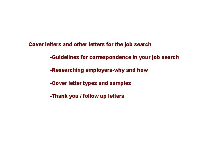 English For Business Life Lecture 3 Cover Letter