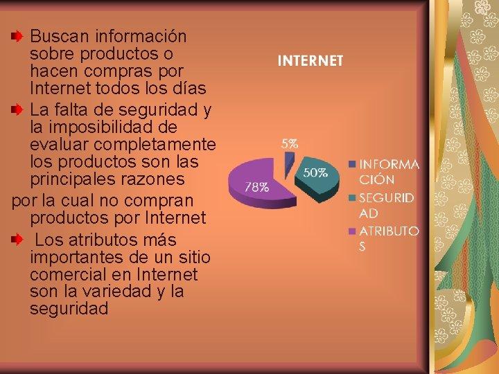 Buscan información sobre productos o hacen compras por Internet todos los días La falta