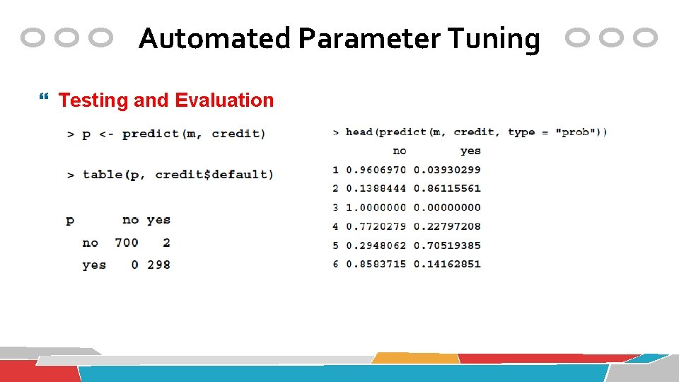 Automated Parameter Tuning Testing and Evaluation