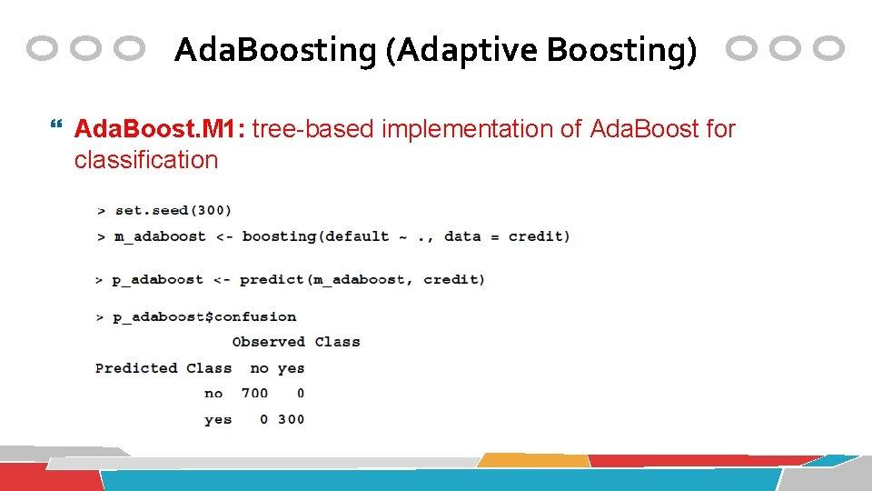 Ada. Boosting (Adaptive Boosting) Ada. Boost. M 1: tree-based implementation of Ada. Boost for