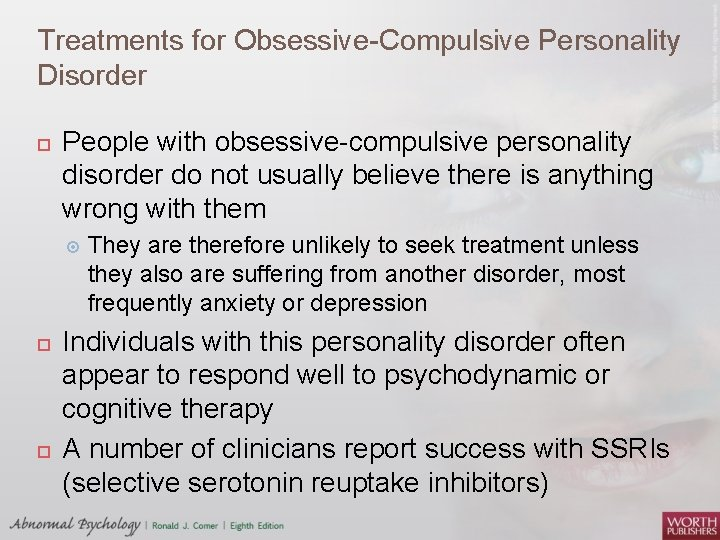Personality disorder compulsive treatment for obsessive Psychopharmacological Treatment