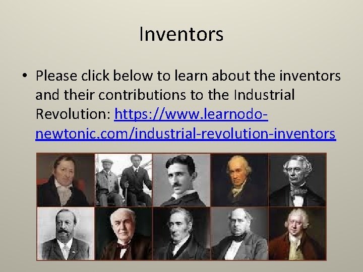 Inventors • Please click below to learn about the inventors and their contributions to