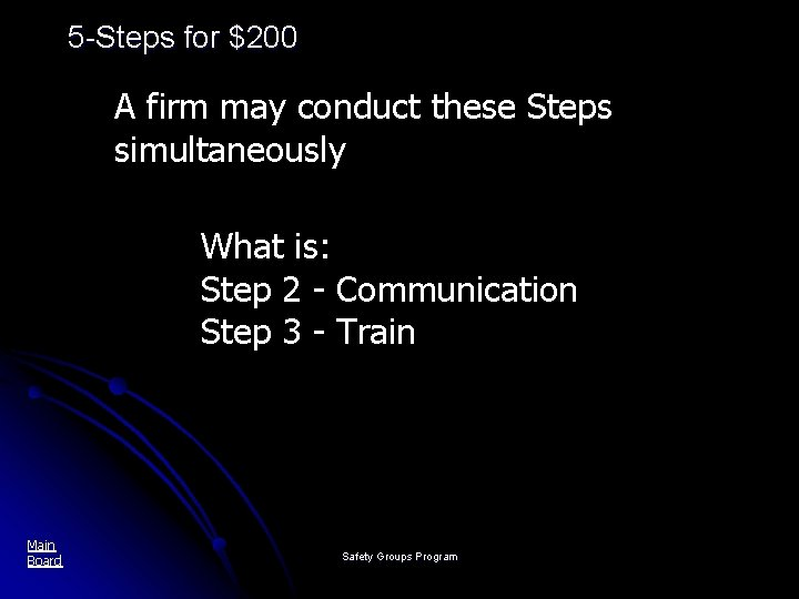 5 -Steps for $200 A firm may conduct these Steps simultaneously What is: Step