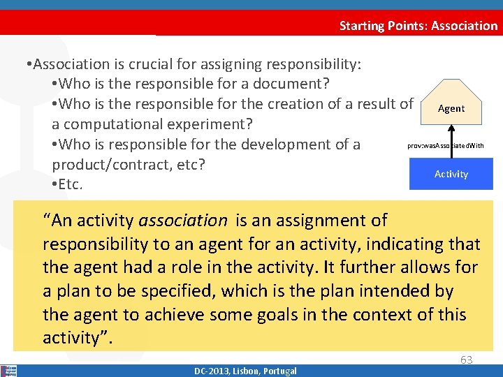 Starting Points: Association • Association is crucial for assigning responsibility: • Who is the