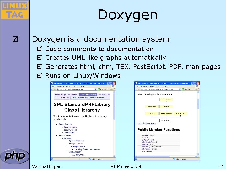 Doxygen þ Doxygen is a documentation system þ þ Code comments to documentation Creates