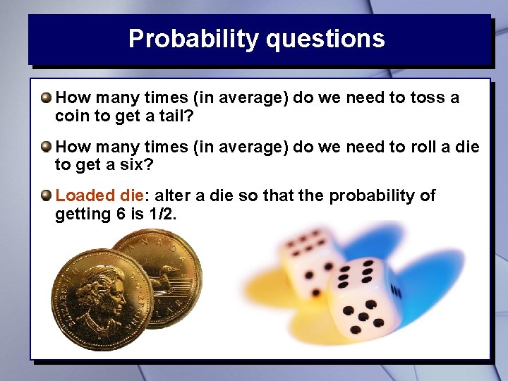 Probability questions How many times (in average) do we need to toss a coin