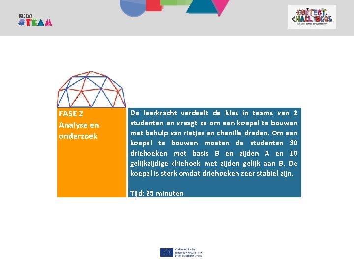1. KANPALDIA Contest and Challenges Camp FASE 2 Analyse en onderzoek De leerkracht verdeelt