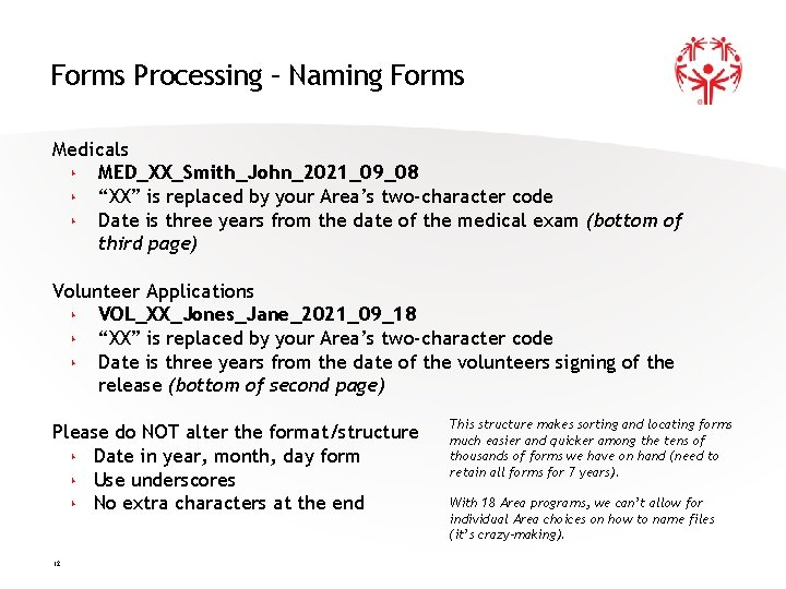 """Forms Processing – Naming Forms Medicals ‣ MED_XX_Smith_John_2021_09_08 ‣ """"XX"""" is replaced by your"""