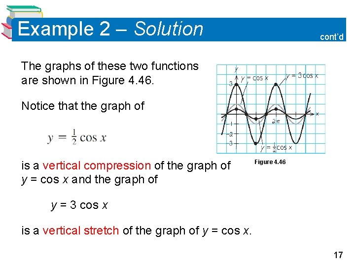 Example 2 – Solution cont'd The graphs of these two functions are shown in