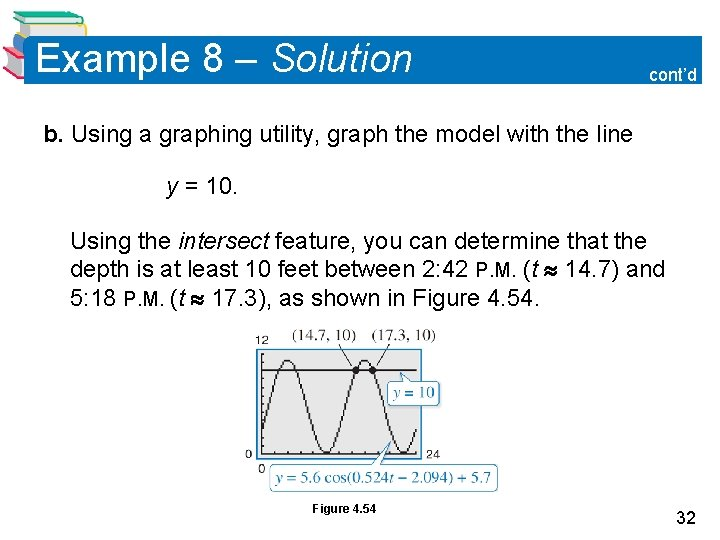 Example 8 – Solution cont'd b. Using a graphing utility, graph the model with