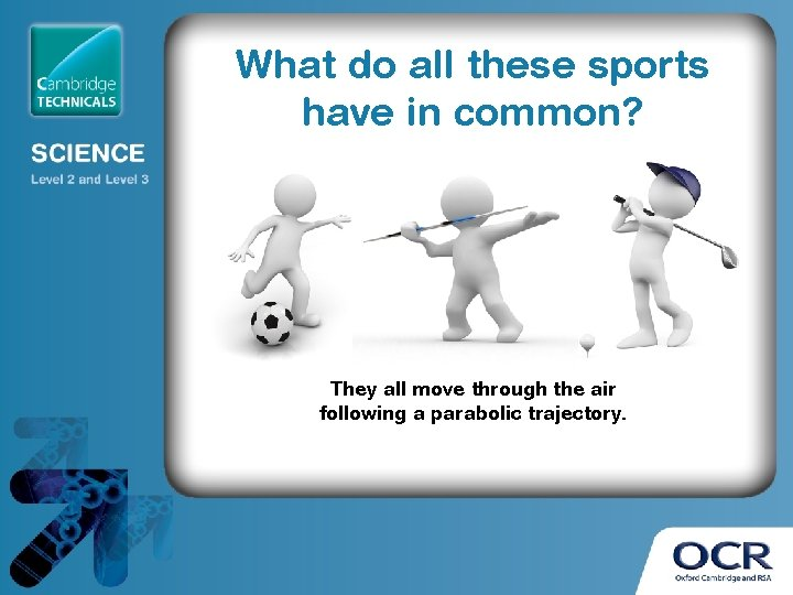 What do all these sports have in common? They all move through the air
