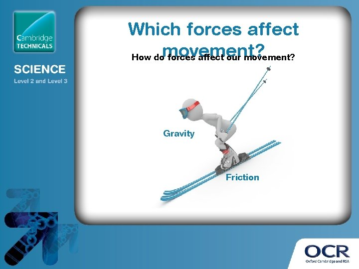 Which forces affect How domovement? forces affect our movement? Gravity Friction