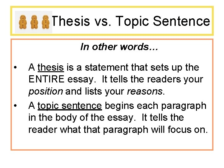 Thesis topic sentence top scholarship essay proofreading service usa