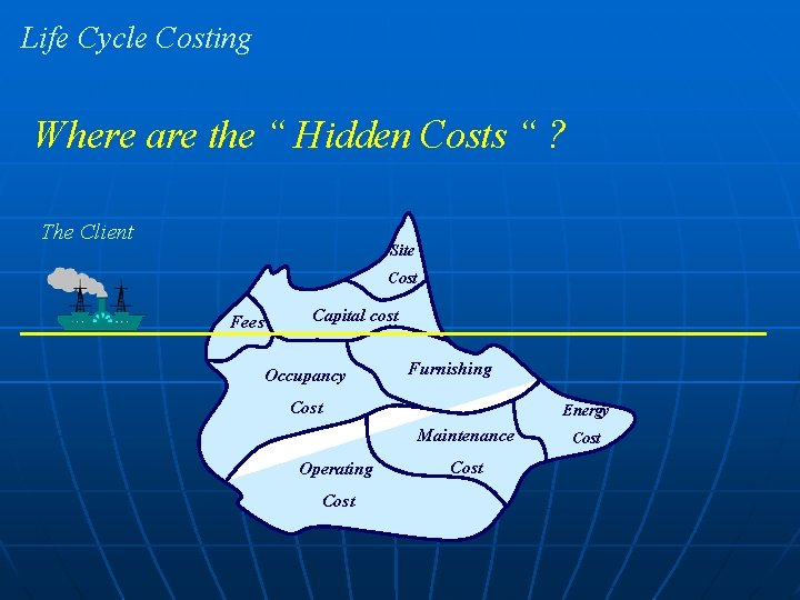 """Life Cycle Costing Where are the """" Hidden Costs """" ? The Client Site"""