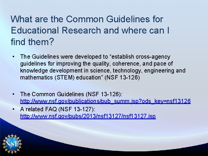 What are the Common Guidelines for Educational Research and where can I find them?