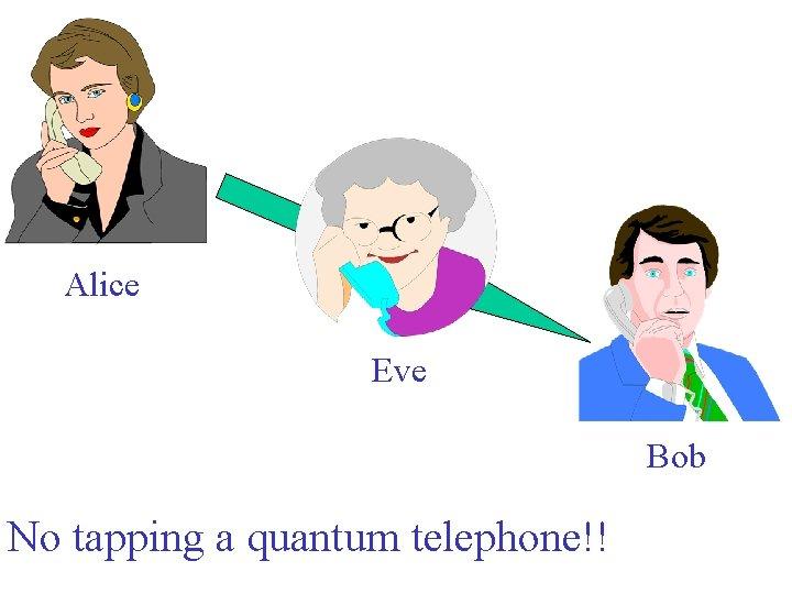 Alice Eve Bob No tapping a quantum telephone!!