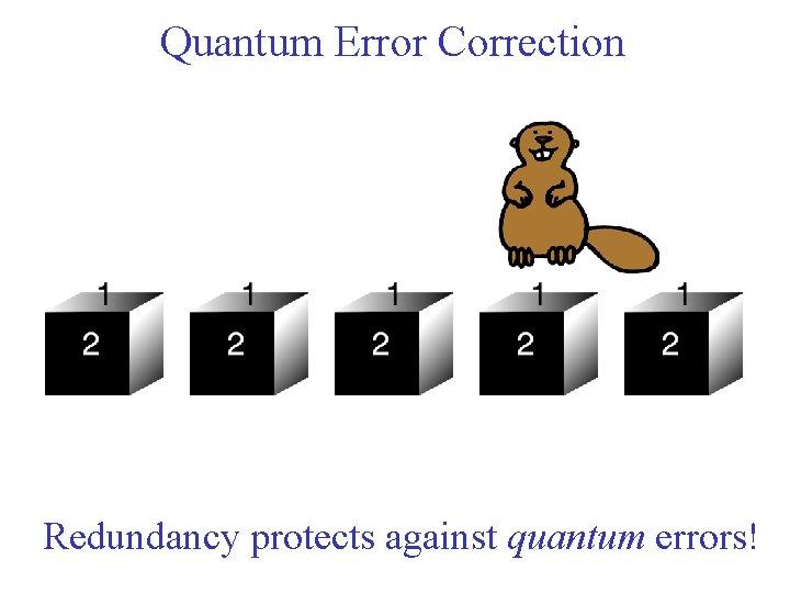 Quantum Error Correction Redundancy protects against quantum errors!
