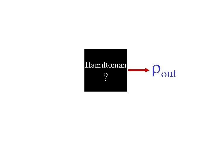 Hamiltonian ? rout