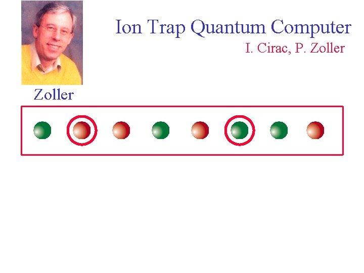 Ion Trap Quantum Computer I. Cirac, P. Zoller