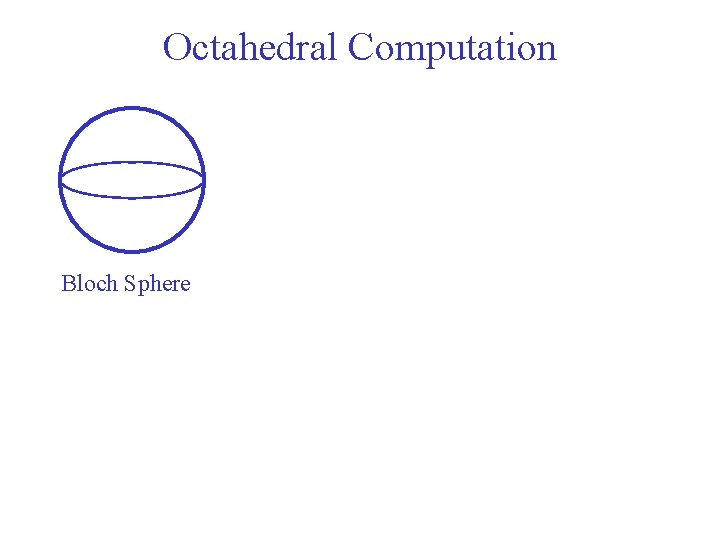 Octahedral Computation Bloch Sphere