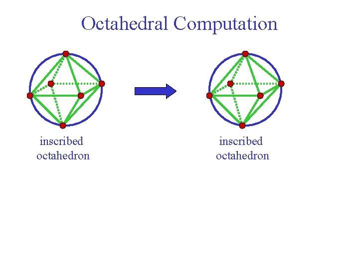 Octahedral Computation inscribed octahedron