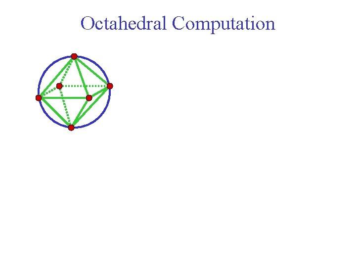 Octahedral Computation