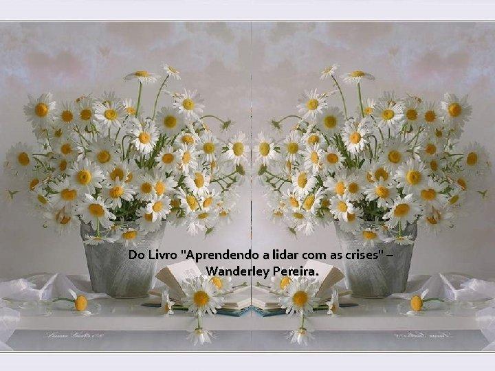 """Do Livro """"Aprendendo a lidar com as crises"""" – Wanderley Pereira."""
