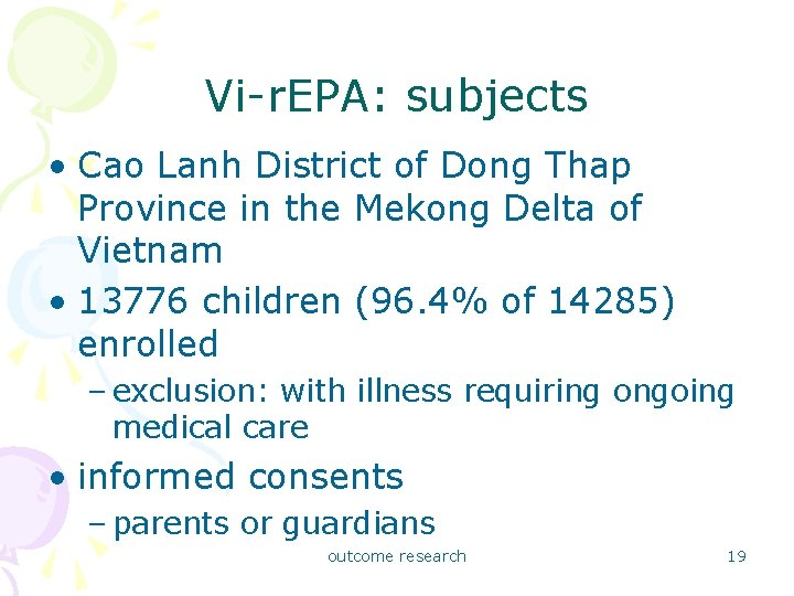 Vi-r. EPA: subjects • Cao Lanh District of Dong Thap Province in the Mekong