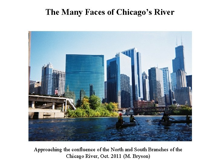 The Many Faces of Chicago's River Approaching the confluence of the North and South