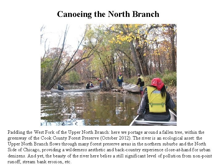 Canoeing the North Branch Paddling the West Fork of the Upper North Branch: here