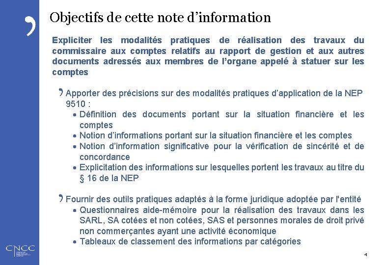 Objectifs de cette note d'information Expliciter les modalités pratiques de réalisation des travaux du