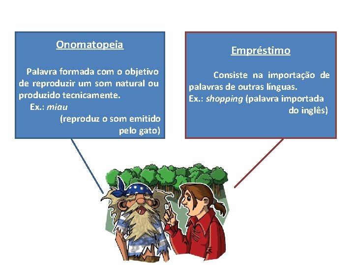 Onomatopeia Palavra formada com o objetivo de reproduzir um som natural ou produzido tecnicamente.
