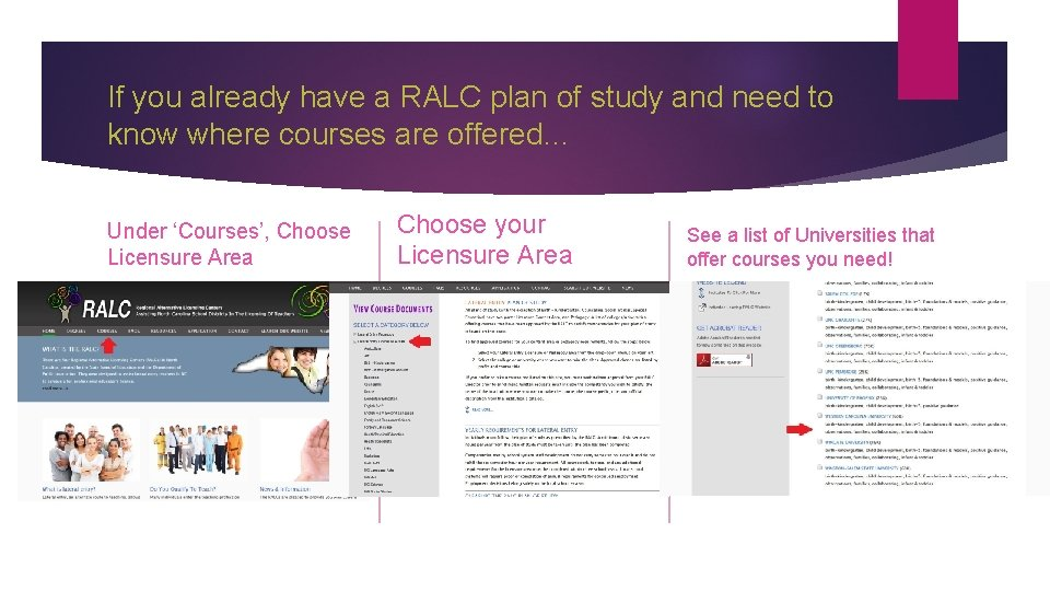 If you already have a RALC plan of study and need to know where