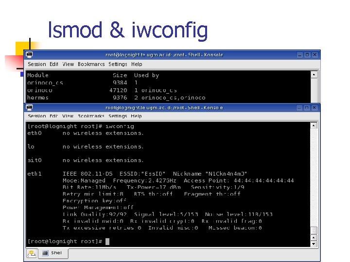 lsmod & iwconfig