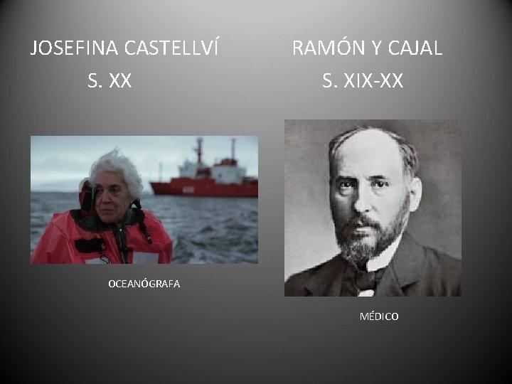 JOSEFINA CASTELLVÍ S. XX RAMÓN Y CAJAL S. XIX-XX OCEANÓGRAFA MÉDICO