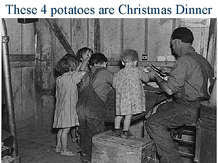 These 4 potatoes are Christmas Dinner