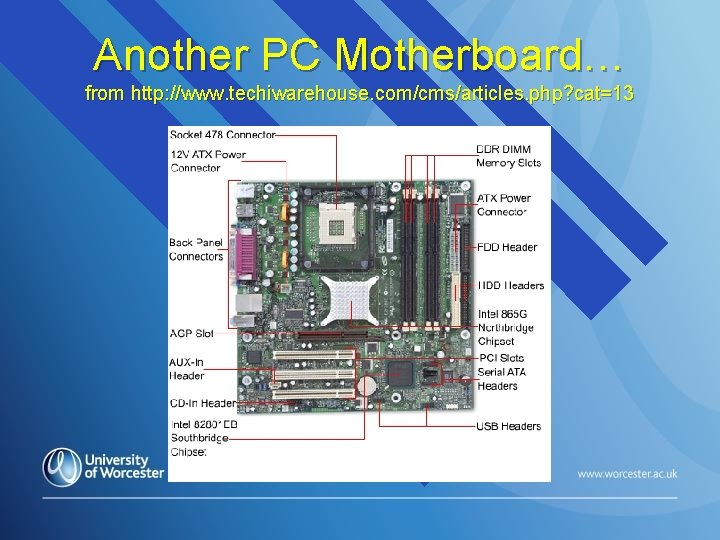 Another PC Motherboard… from http: //www. techiwarehouse. com/cms/articles. php? cat=13