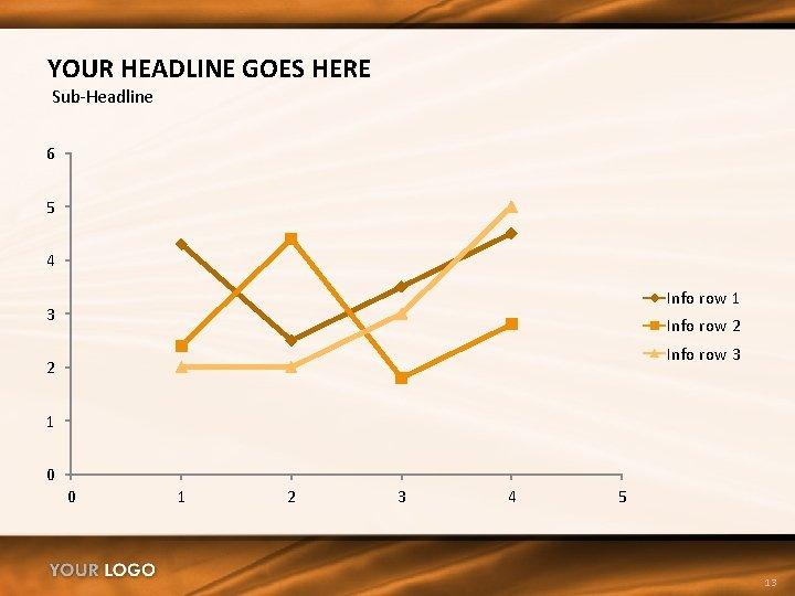 YOUR HEADLINE GOES HERE Sub-Headline 6 5 4 Info row 1 3 Info row