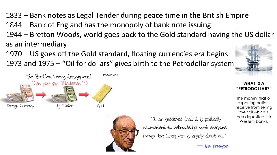 1833 – Bank notes as Legal Tender during peace time in the British Empire